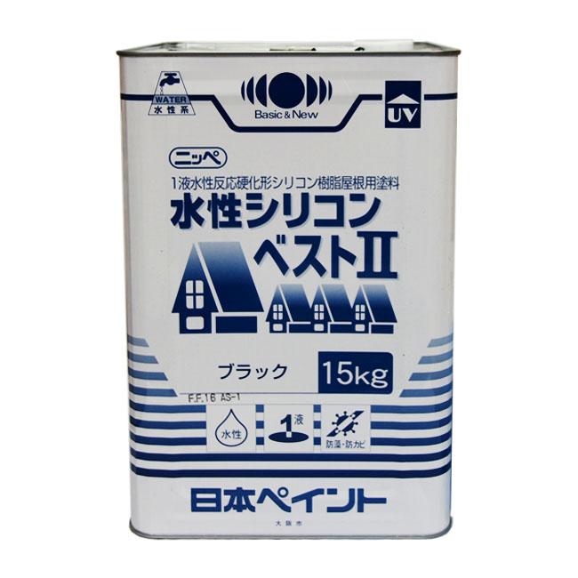 【レビューで300円CP!】ニッペ水性シリコンベスト2艶消 15kg 塗料販売