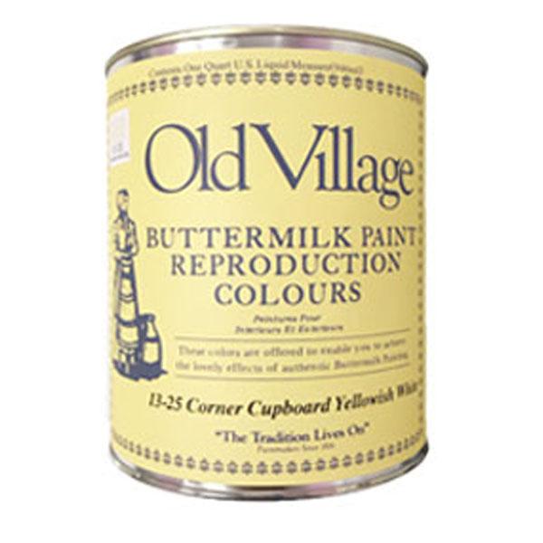 バターミルクペイント 全23色 ツヤけし 3785ml(約25平米分)Old Village(オールドビレッジ) Buttermilk Paint 水性 多用途 自然塗料 DIY クラフト リメイク 赤ちゃんにも安心・安全な水性ペンキ
