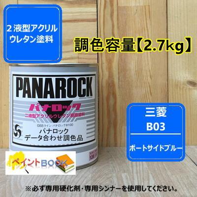 三菱 B03【2.7kg】ポートサイドブルー パナロック塗料 ロックペイント キャンター 自動車補修 トラック