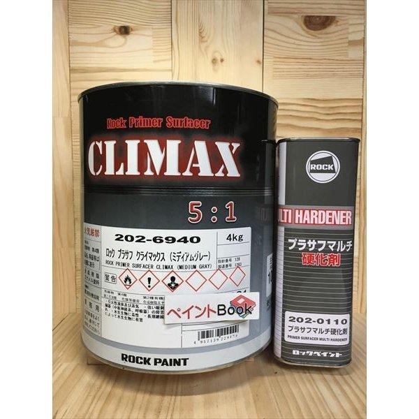 ロックプラサフ クライマックス (ミディアムグレー) 容量5kg セット
