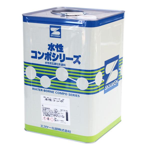 水性コンポウレタン 艶有 濃彩 16kg(エスケー化研)
