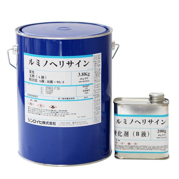 【送料無料】ルミノヘリサイン 蛍光グリーン 4kg(シンロイヒ/災害時対空表示用蛍光塗料)