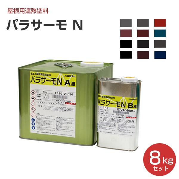 パラサーモ N 8kgセット(日本特殊塗料/弱溶剤2液型遮熱屋根用塗料)