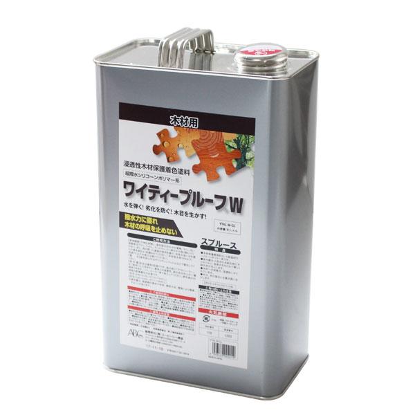 【送料無料】ワイティープルーフW カラレス 4L (シリコーン系木材保護着色塗料/ABC商会)