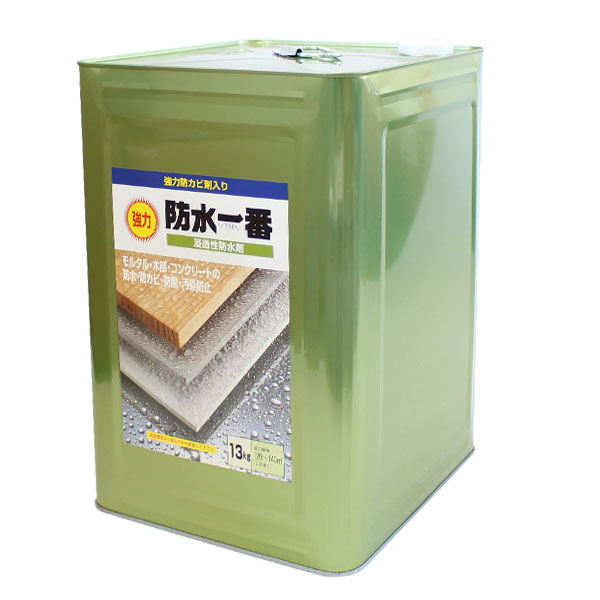 【送料無料】強力防水一番 13kg (溶剤系/防水剤/浸透性防止剤/撥水剤/コンクリート/木材/レンガ/日本特殊塗料)