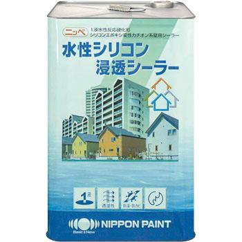 水性シリコン浸透シーラー ホワイト・透明 15Kg缶【1液 水性 シリコンエポキシ 下塗り 日本ペイント】