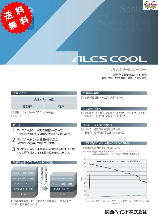 【送料無料】 アレスクールシーラー 16kg セット ≪関西ペイント≫