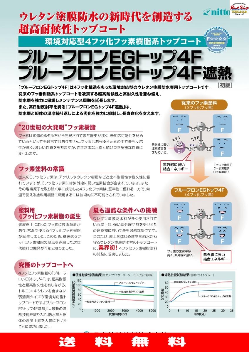 【送料無料】 プルーフロンEGトップ4F グレー 15kg ≪日本特殊塗料≫