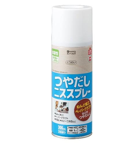 水溶性つやだしニス スプレー 300ml 1箱(12本) とうめい【カンペハピオ】