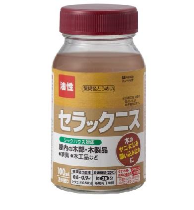 セラックニス 300ml 1箱(12本入) 黄褐色とうめい 【カンペハピオ】