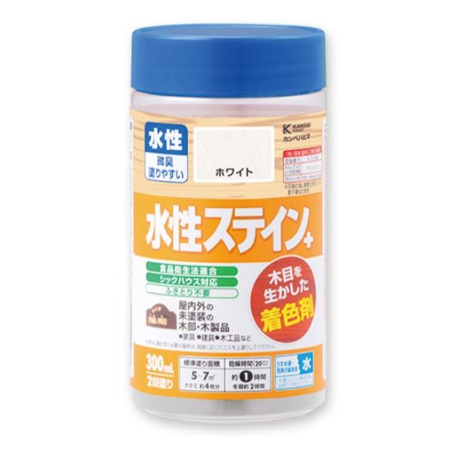 [ ]水性ステイン+ 300ml 1箱(12本入) 各10色【カンペハピオ】