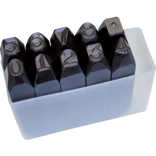 TRUSCO 逆数字刻印セット 10mm(SKB100)