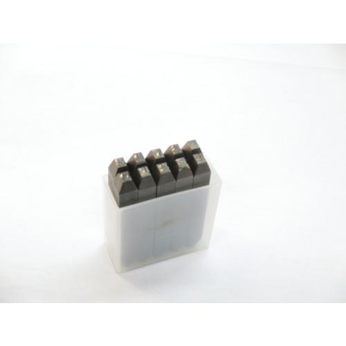 TRUSCO 6mm(SKB60) 逆数字刻印セット