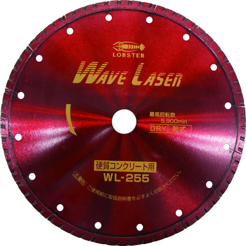 エビ ダイヤモンドホイール ウェブレーザー(乾式) 260mm穴径25.4mm(WL255254)