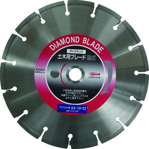 エビ ダイヤモンドカッターアスファルト用 10インチ 22パイ(AX1022)