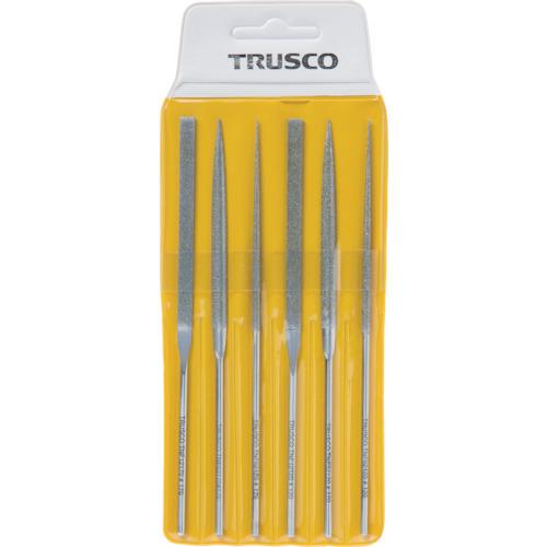 TRUSCO ダイヤモンドニードルヤスリ 平・半丸・丸 6本組セット(TNFS1)
