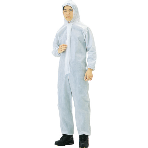 TRUSCO まとめ買い 不織布使い捨て保護服M 40入(TPCM40)
