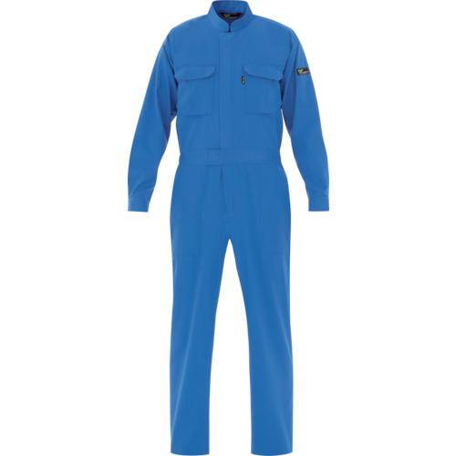 ミドリ安全 ベルデクセル T/C帯電防止ツナギ服 ブルー L(VE413L)