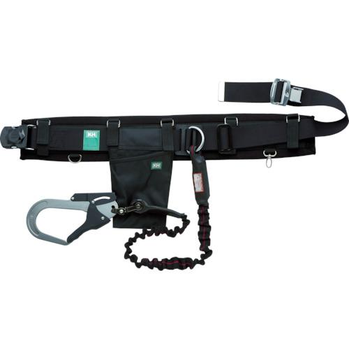 KH 補助帯付安全帯 じゃばら式 タフアルミ 自在環 アロッキー 黒/緋(HJAWKLK)