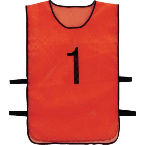 TRUSCO 番号安全ベスト 「1」~「10」各1枚セット オレンジ(TBB10SET)