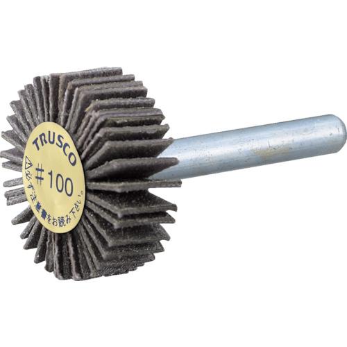 TRUSCO ダイヤ軸付フラップホイール オールダイヤ Φ50X軸径6 180#(PDF50206A)