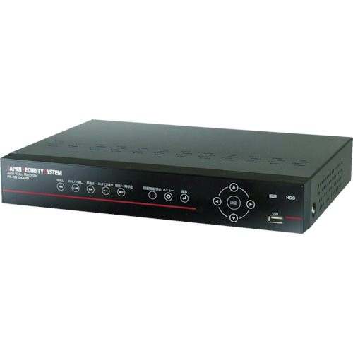 日本防犯システム AHD 4ch デジタルレコーダー【2TB】(PFRN104AHD)