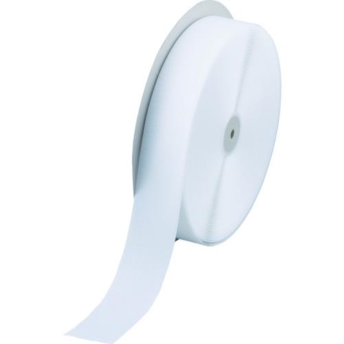 TRUSCO マジックテープ 縫製用A側 幅50mmX長さ25m 白(TMAH5025W)