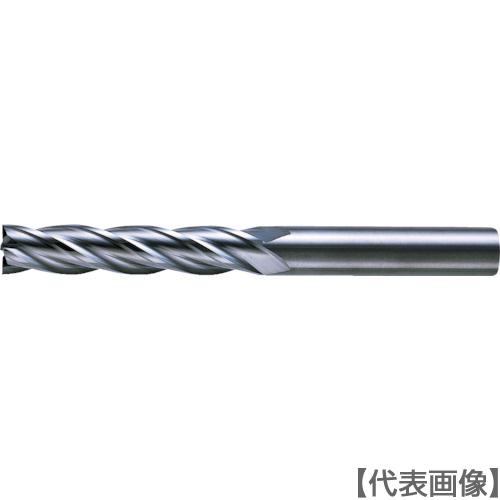 三菱K 4枚刃超硬センタカットエンドミル(ロング刃長) ノンコート 10mm(C4LCD1000)