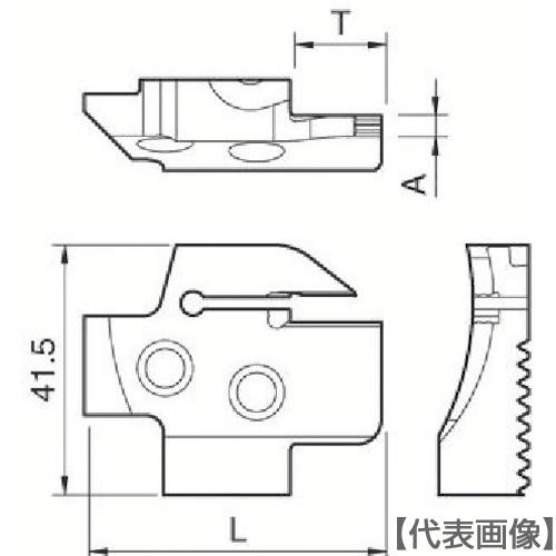 京セラ 溝入れ用ホルダ(KGDFR2204BC)
