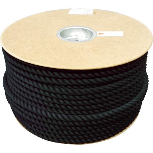 ユタカ ポリエステルロープ ドラム巻 12φ×100m 黒(PRS61)