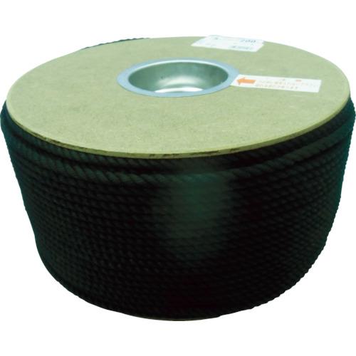 ユタカ ポリエステルロープ ドラム巻 5φ×200m 黒(PRS91)