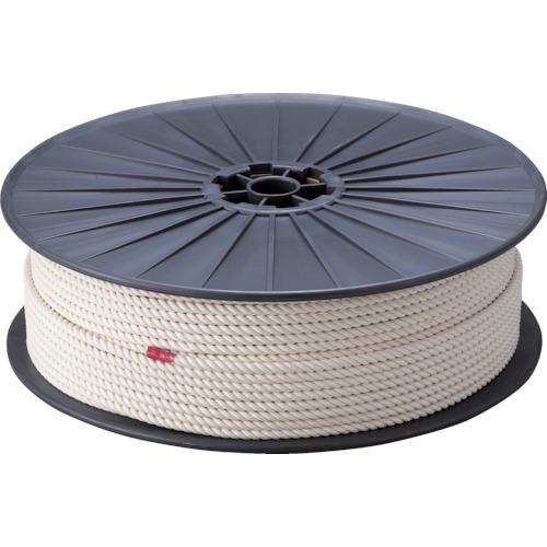 TRUSCO 綿ロープ 3つ打 線径6mmX長さ200m(R6200M)