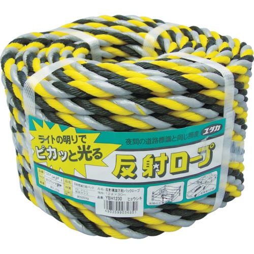 ユタカ ロープ 反射標識万能パックロープ 12φ×30m ヒョウシキ(YBH1230)