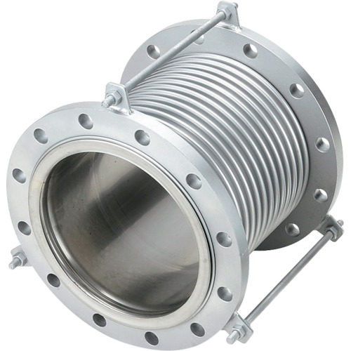 NFK 排気ライン用伸縮管継手 5KフランジSS400 300AX200L(NK7300300200)