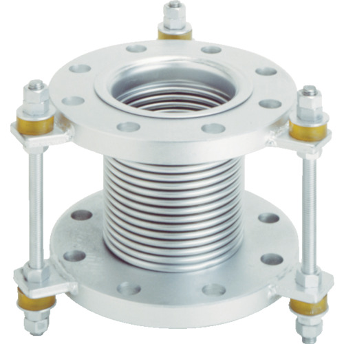 トーフレ フランジ無溶接型防振継手 10K SS400 50AX150L(VJ10K50150)