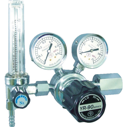 ヤマト 汎用小型圧力調整器 YR-90F(流量計付)(YR90FARTRC)