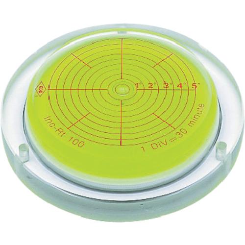 KOD 取付穴付角度計付丸台型アイベル水平器(INCRT150)
