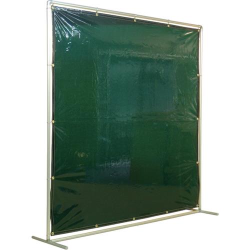 吉野 遮光フェンスアルミパイプ 2×2 単体固定 グリーン(YS22SFG)