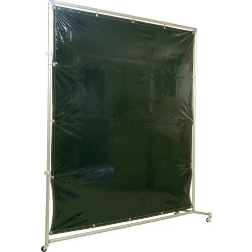 吉野 遮光フェンスアルミパイプ 2×2 接続キャスター ダークグリーン(YS22JCDG)