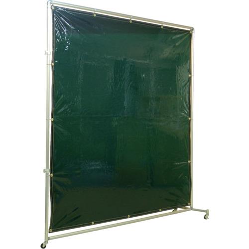 吉野 遮光フェンスアルミパイプ 2×2 接続キャスター グリーン(YS22JCG)