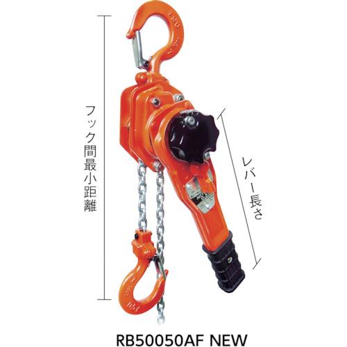 ニッチ RB5AF形レバーホイスト 過負荷防止装置付 0.5t(RB50050AFNEW)