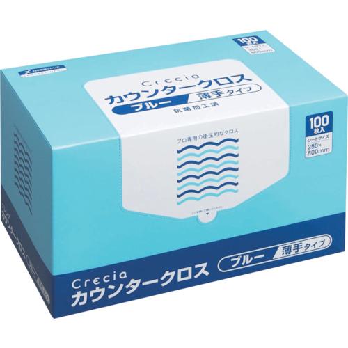 クレシア カウンタークロス 薄手タイプ ブルー(65433)