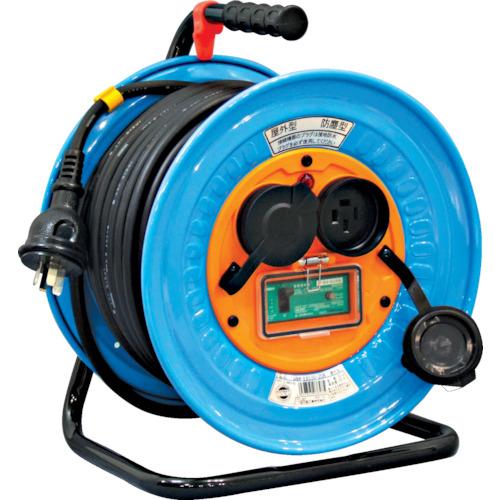 日動 電工ドラム 防雨防塵型三相200V アース漏電しゃ断器付 30m(DNWEB33020A)