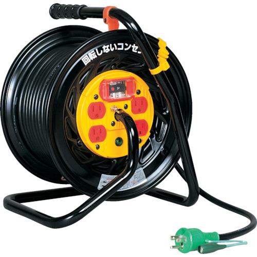 日動 電工ドラム マジックリール 100V アース過負荷漏電しゃ断器付 30m(ZEK34)