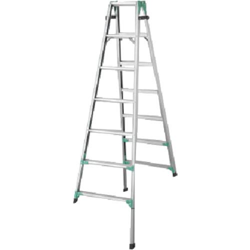 ハセガワ 脚部伸縮式アルミはしご兼用脚立 RYZ型 7段(RYZ1.021)