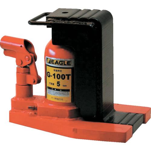 イーグル 低床・レバー回転・安全弁付爪つきジャッキ 爪能力5t(G100T)