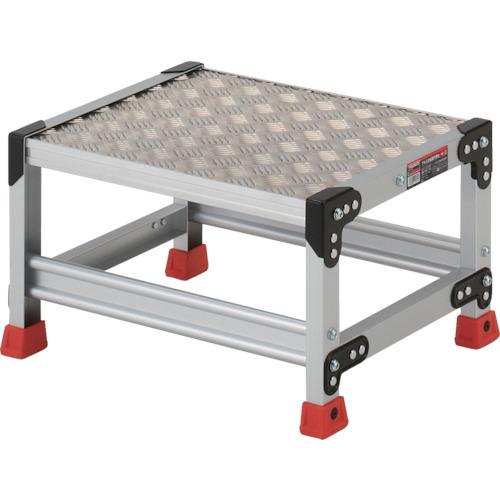 TRUSCO 作業用踏台 アルミ製・縞板タイプ 天板寸法500X400XH300(TSFC153)