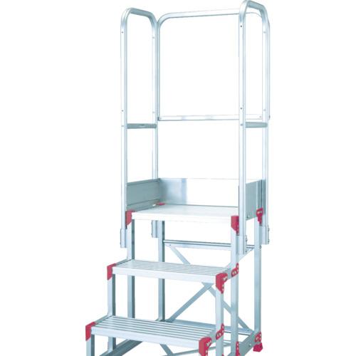 ピカ 作業台用手すりZG-TE型 階段両手すり 3・4段用(ZGTE4A11H)
