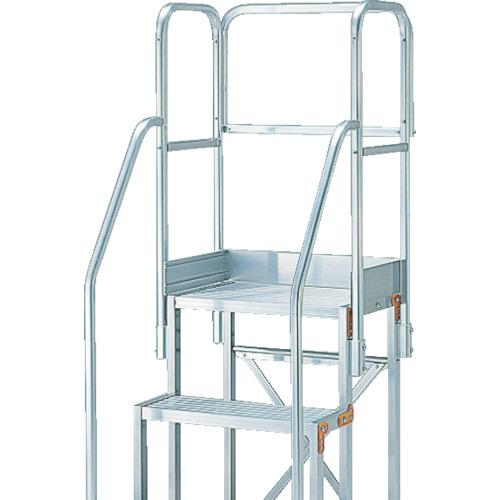 全国宅配無料 TRUSCO 作業用踏台用手すり H900 階段両手すり天場三方 TSF−256(TSFTE20):ペイントアンドツール-DIY・工具
