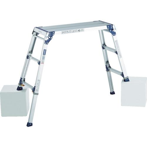 アルインコ 足場台 天板高さ1.01~1.31m 最大使用質量100kg(PXGE1012FK)